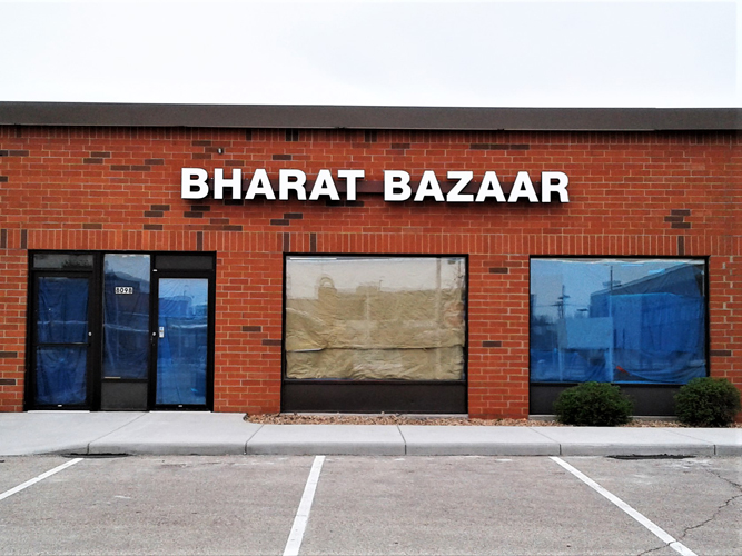 Bharat Bazaar - LED light Channel Letters sign - Impression Signs and Graphics