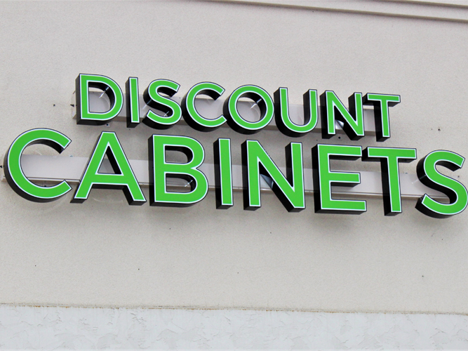 Discount Cabinets - LED light Channel Letters sign - Impression Signs and Graphics