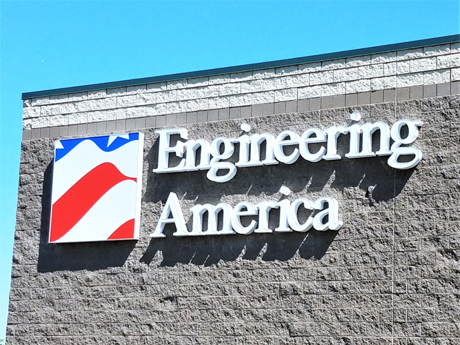 Engineering America - LED light Channel Letters sign - Impression Signs and Graphics - Oakdale, MN