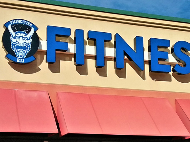Fitness - LED light Channel Letters sign - Impression Signs and Graphics - Oakdale, MN