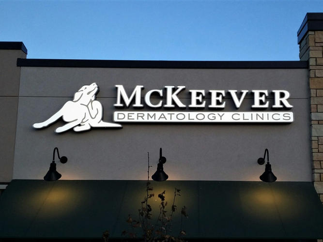 McKeever - LED light Channel Letters sign - Impression Signs and Graphics
