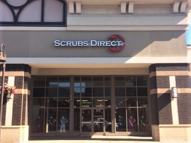 Scrubs Direct - LED light Channel Letters sign - Impression Signs and Graphics - Oakdale, MN