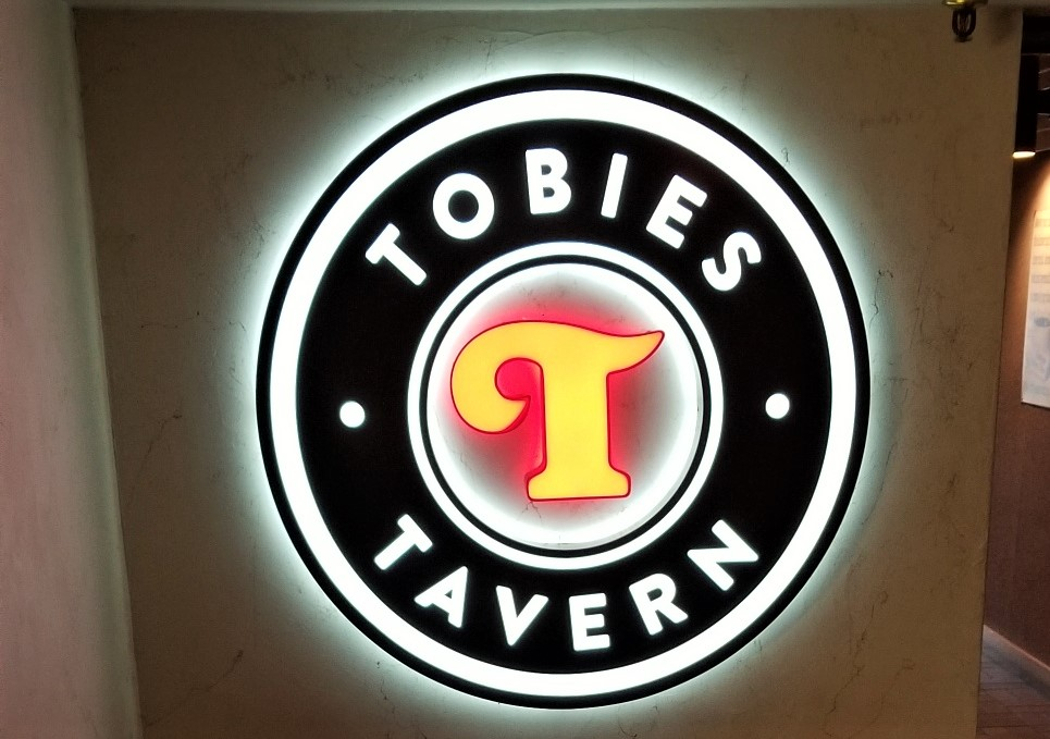 Tobies Tavern - LED light Channel Letters sign - Impression Signs and Graphics