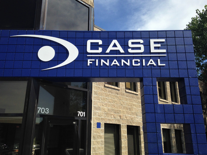 Case Financial - Exterior Dimensional Letters sign - Impression Signs and Graphics