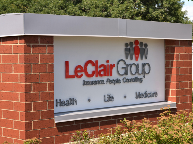 Leclair Group - Monument Dimensional Letters sign - Impression Signs and Graphics
