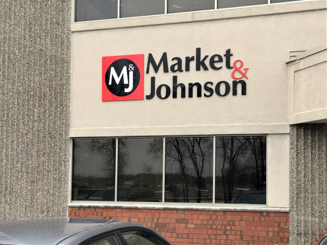 Market & Johnson - Exterior Dimensional Letters sign - Impression Signs and Graphics