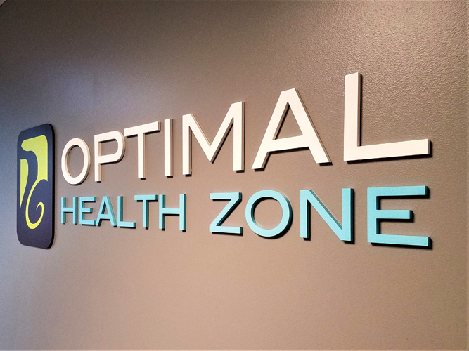 Optimal Health Zone - Dimensional Letters sign - Impression Signs and Graphics