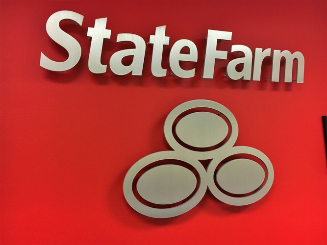 State Farm- Dimensional Letters sign - Impression Signs and Graphics