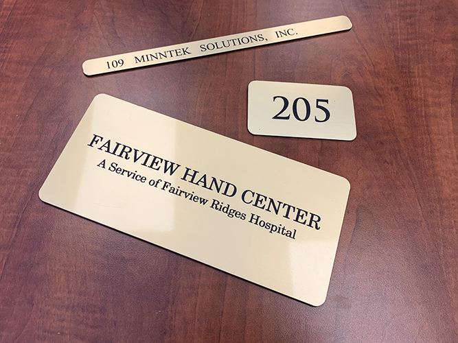 Engraved Signage - Suite Signage - Impression Signs and Graphics - Oakdale, MN