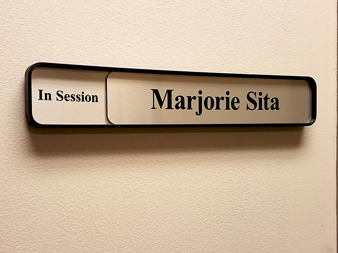 Engraved Sliding In office Signage - Impression Signs and Graphics - Oakdale, MN