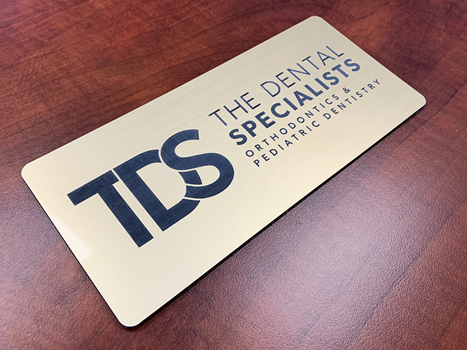 Engraved Sign - TDS Dental Specialists - Impression Signs and Graphics - Oakdale, MN