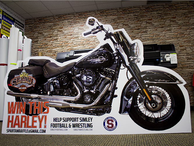 Large Format Print - Lifesize Foamcore Cutout  - Harley Davidson - Impression Signs and Graphics