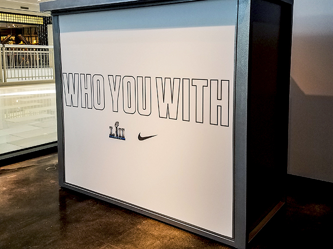 Large Format Print - Store DJ Signage - Nike  - Impression Signs and Graphics