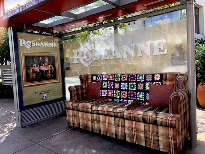 Large Format Print - Roseanne Bus Stop Couch Graphics - Atomic Props - Impression Signs and Graphics