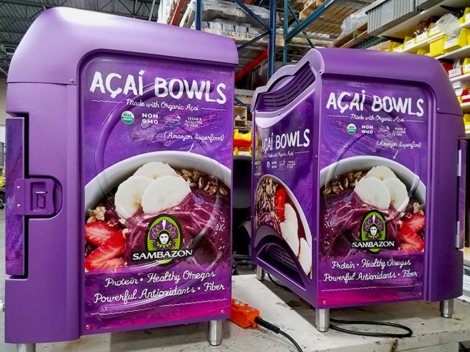Large Format Print - Acai Bowl Graphics - Sambazon -  Impression Signs and Graphics