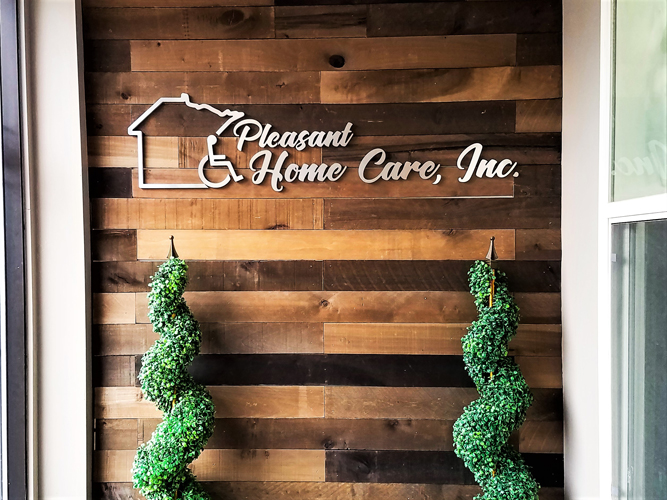 Lobby office sign - Pleasant Home Care -  Impression Signs and Graphics - Oakdale, MN