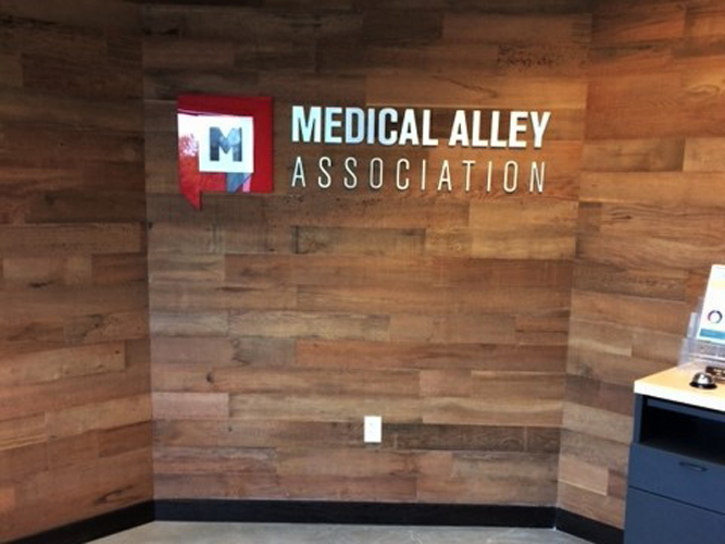 Lobby Office Sign - Medical Alley Association - Impression Signs and Graphics - Oakdale, MN