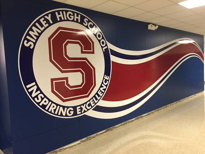 Lobby Sign - Simley High School -  Impression Signs and Graphics - Oakdale, MN