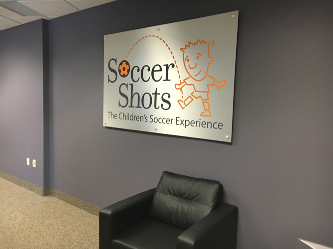 Lobby Office Sign - Soccer Shots -  Impression Signs and Graphics - Oakdale, MN