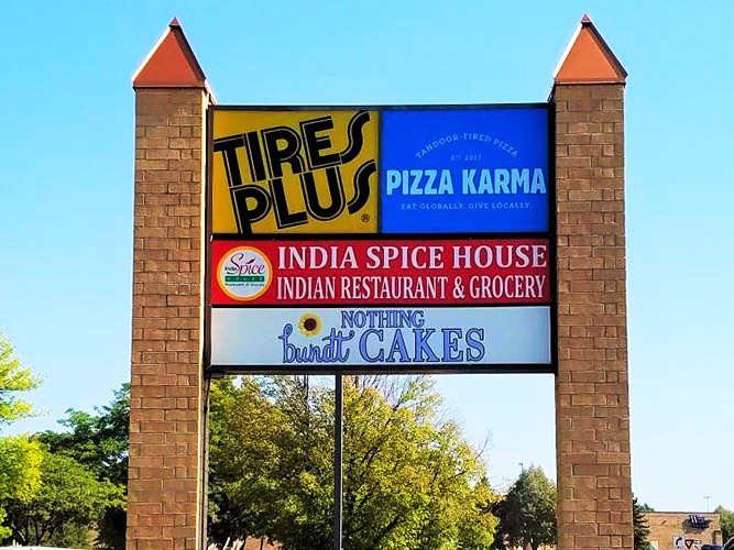 Pylon Sign - Pizza Karma - Impression Signs and Graphics - Oakdale, MN