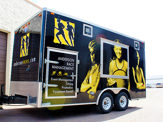 Vehicle Graphic - Trailer - Anderson Race Management - Impression Signs and Graphics