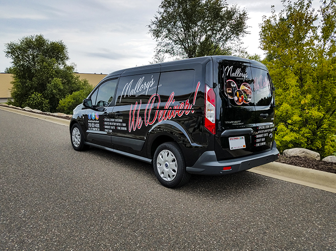 Vehicle Graphic - Van - Mallory's -  Impression Signs and Graphics