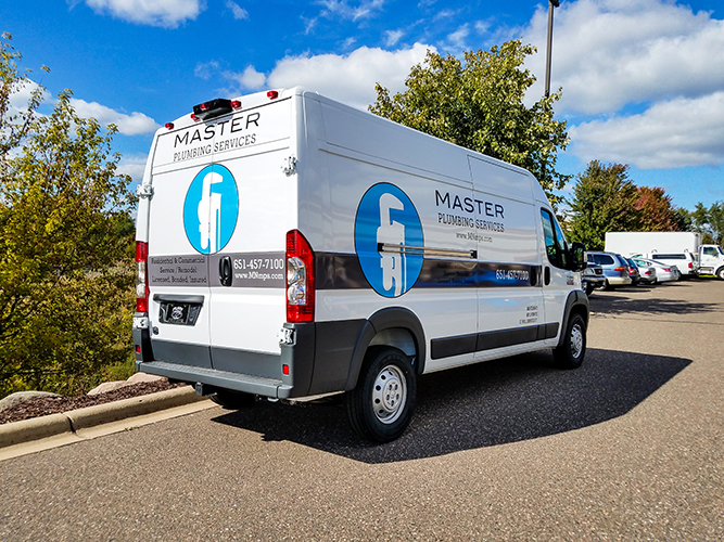 Vehicle Graphic - Van - Master Plumbing - Impression Signs and Graphics