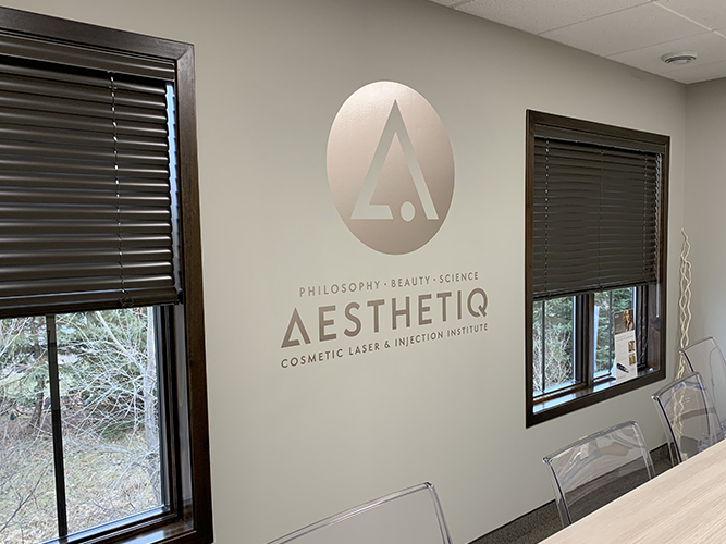 Aesthetiq - Rose Vinyl Lettering and Logo vinyl - Impression Signs and Graphics - Oakdale, MN