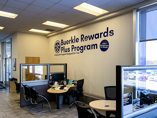 Buerkle Honda - Vinyl lettering on wall - Impression Signs and Graphics - Oakdale, MN
