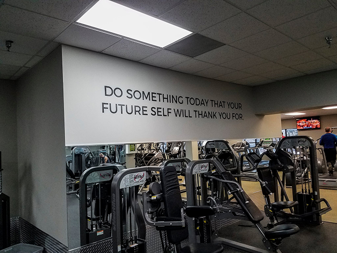 River Valley Athletic Club Gym - Wall Graphics- Impression Signs and Graphics