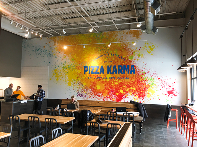Pizza Karma - Wall Graphics - Impression Signs and Graphics