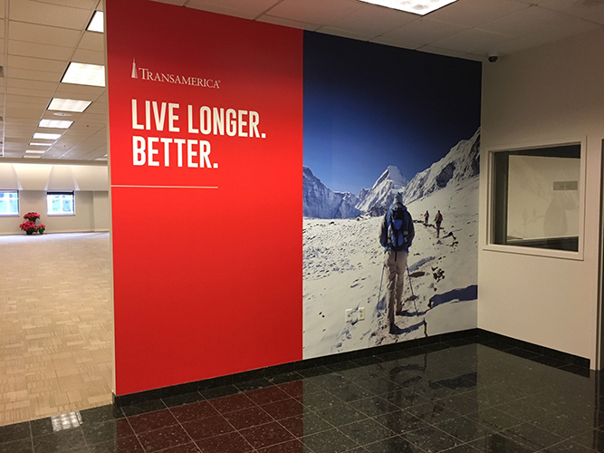 Transamerica - Wall Graphics Install - Impression Signs and Graphics