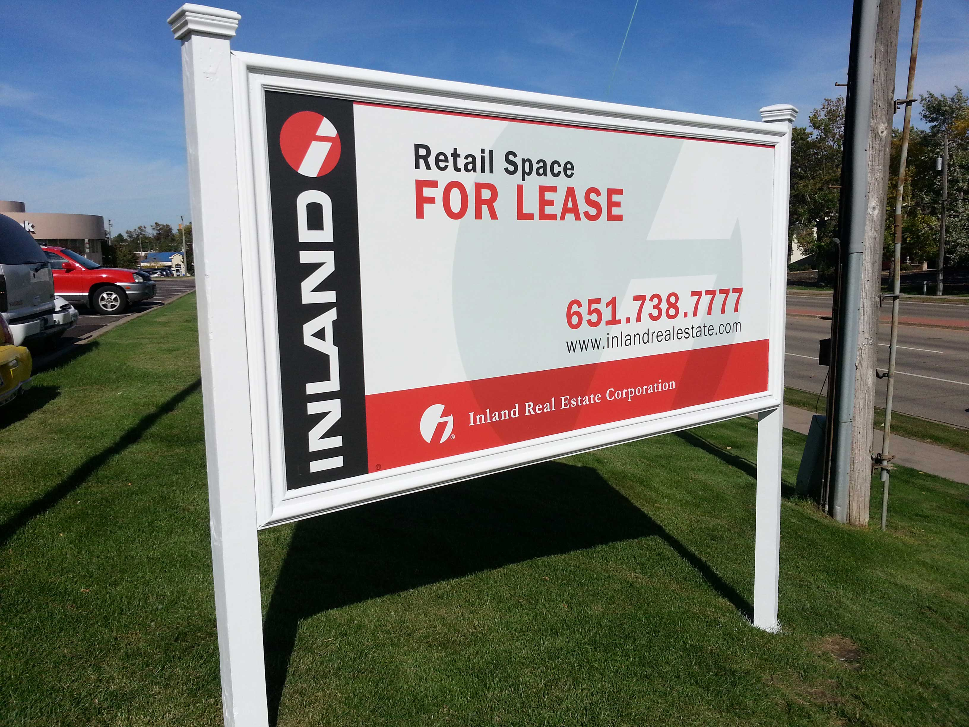 Yard Sign - Inland Lease Sign - Impression Signs and Graphics