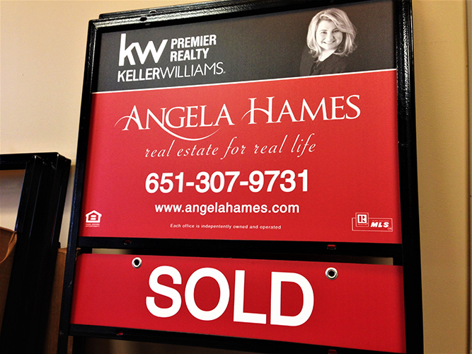 Yard Site Sign - Frame - Keller Williams - Real Estate - Impression Signs and Graphics