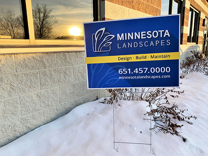 Yard Sign - Coroplast - Minnesota Landscape - Impression Signs and Graphics