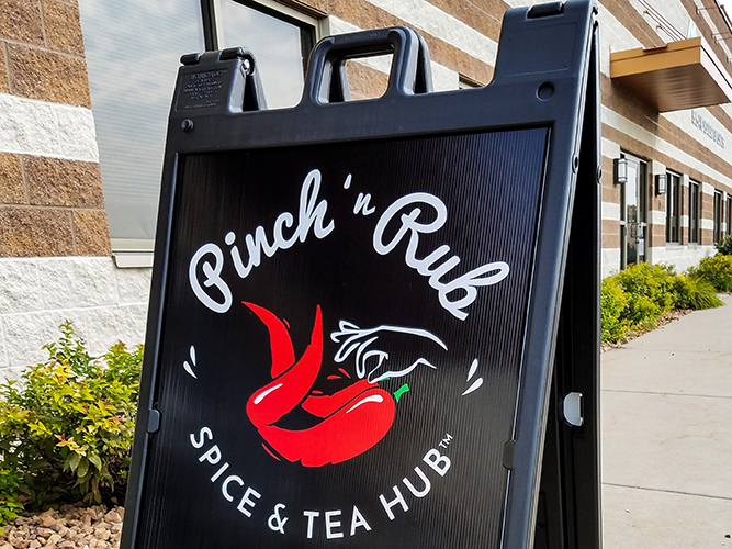 Yard Sign- A-frame - Pinch N Rub Tea - Impression Signs and Graphics