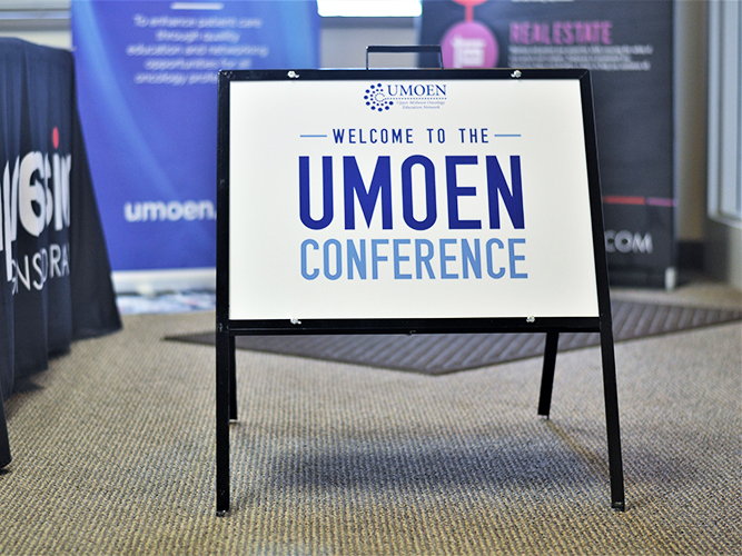 Yard Wayfinding Signage - Frame - UMoen Conference - Impression Signs and Graphics