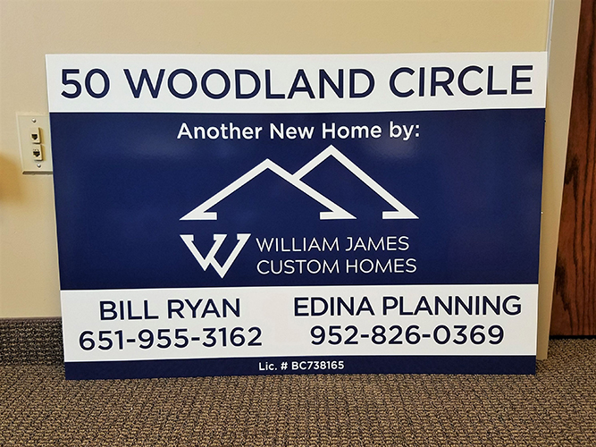 Site Sign - Custom Homes commerical development signage - Impression Signs and Graphics